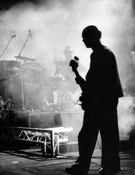 Mani on stage at Alexandra Palace
