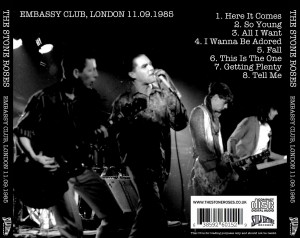 The Stone Roses - Embassy Club London 1985 CD back