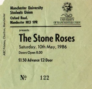 The Stone Roses at Manchester University May 1985 ticket
