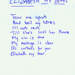 Elizabeth My Dear lyrics