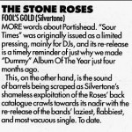Fools Gold re-release review - Melody Maker 15-04-95