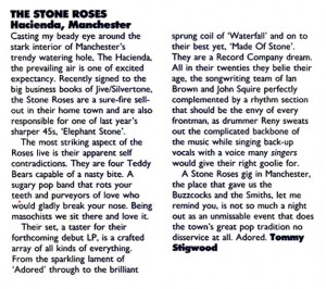 Hacienda live review -Record Mirror 11-03-89