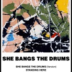 Postcard - She Bangs The Drums advert 4