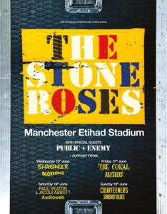 Stone Roses 2016 tour poster