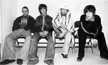 The Stone Roses backstage at Alexandra Palace