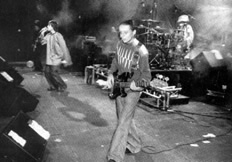The Stone Roses on stage at Alexandra Palace