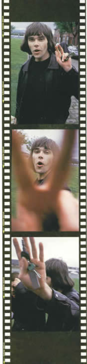 Talk to the hand! Ian Brown outside Square One studios, April 1993
