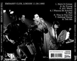 The Stone Roses - Embassy Club London 1985 CD back