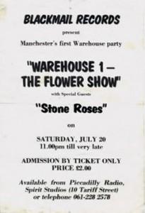 Warehouse 1 - Flower Show flyer 20-07-85