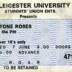Leicester University ticket 07-06-89
