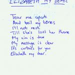 Elizabeth My Dear lyrics